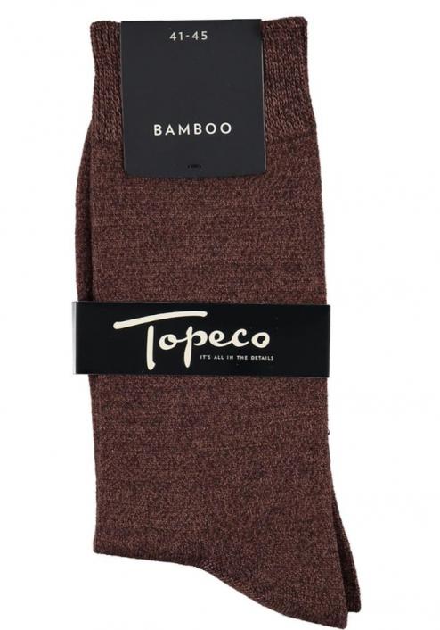 Topeco 3-pack sock mönstrad, bambu, mörkbrun