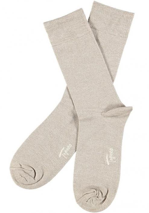 Topeco 3-pack sock mönstrad, bambu, vit