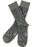 Topeco 3-pack sock mönstrad, bambu, castor grön