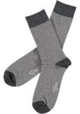Topeco 3-pack soft-top strumpa randig, bomull, grå