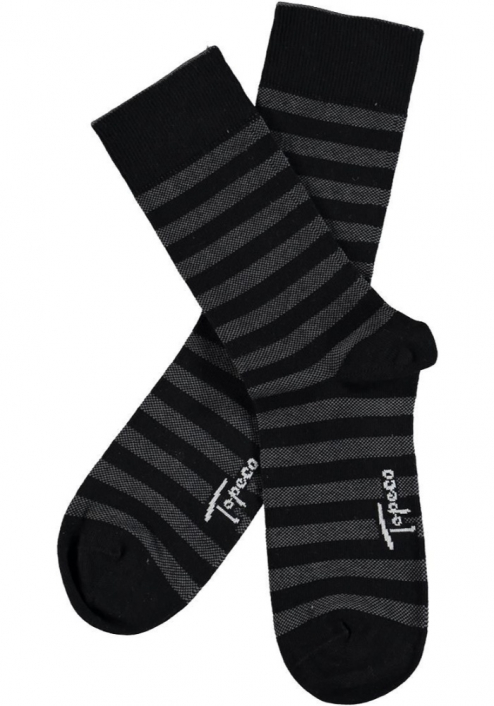 Topeco 3-pack strumpa mönstrad, bomull, svart