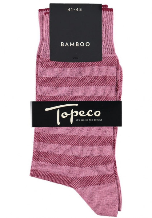 Topeco 3-pack strumpa mönstrad, bomull, antikrosa