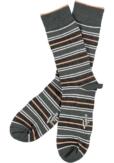 Topeco 3-pack sock mönstrad, bambu, mörk grön