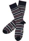 Topeco 3-pack sock mönstrad, bambu, navy