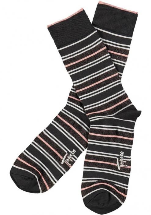Topeco 3-pack sock mönstrad, bambu, antracit
