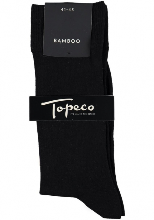 Topeco 3-pack sock mönstrad, bambu, svart