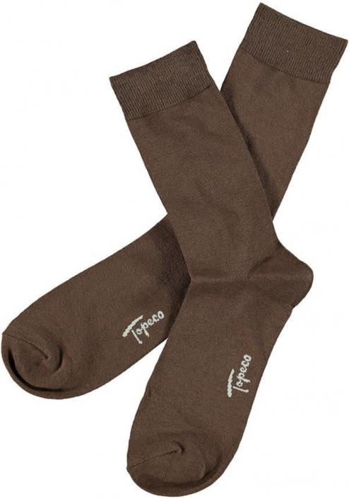 Topeco 3-pack sock mönstrad, bambu, cognac