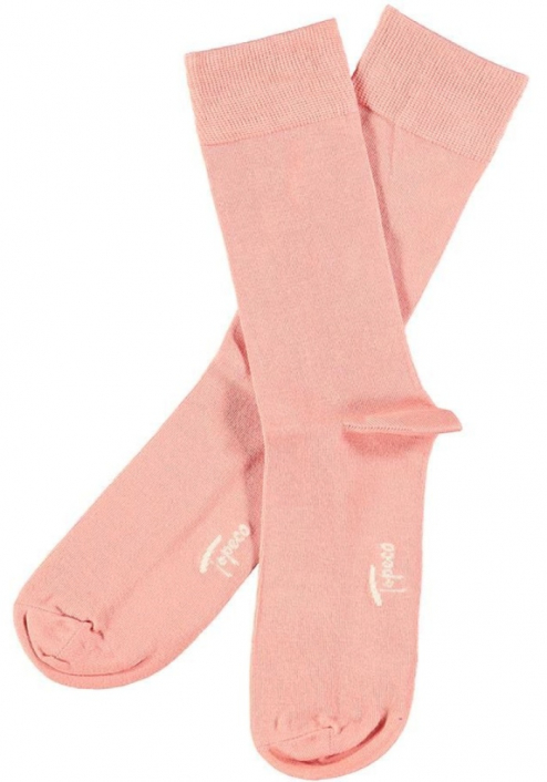Topeco 3-pack sock mönstrad, bambu, korall