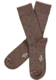 Topeco 3-pack sock mönstrad, bambu, choklad kaka