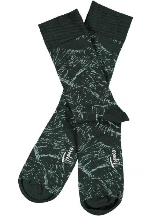 Topeco 3-pack sock mönstrad, bambu, grön