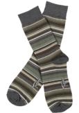 Topeco 3-pack strumpa mönstrad, bomull, mörk grön