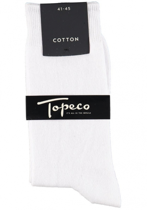 Topeco 3-pack strumpa enfärgad, bomull, vit