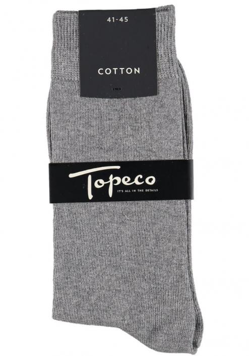 Topeco 3-pack strumpa enfärgad, bomull, gråmelange