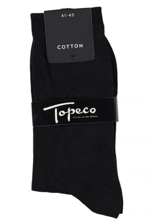 Topeco 3-pack strumpa enfärgad, bomull, svart