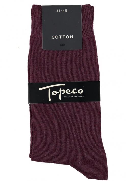 Topeco 3-pack strumpa enfärgad, bomull, rödmelange