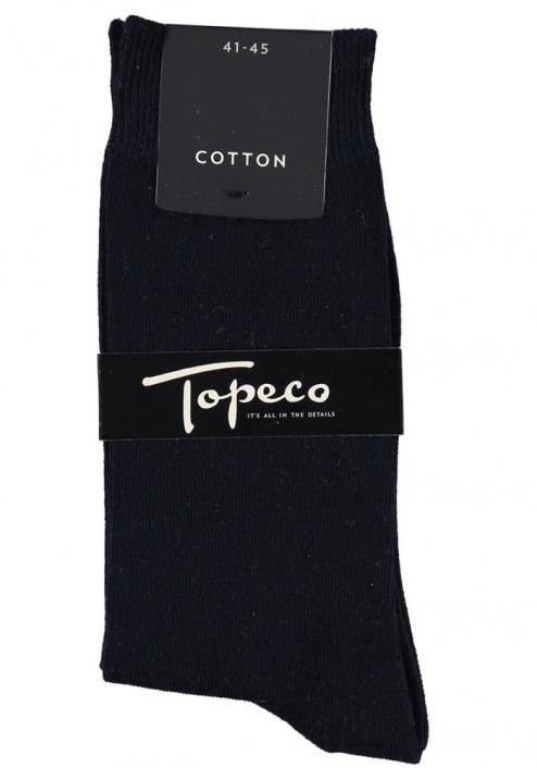 Topeco 3-pack strumpa enfärgad, bomull, navy