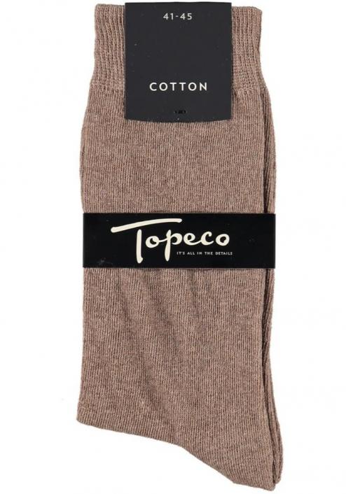 Topeco 3-pack strumpa enfärgad, bomull, pinjebark