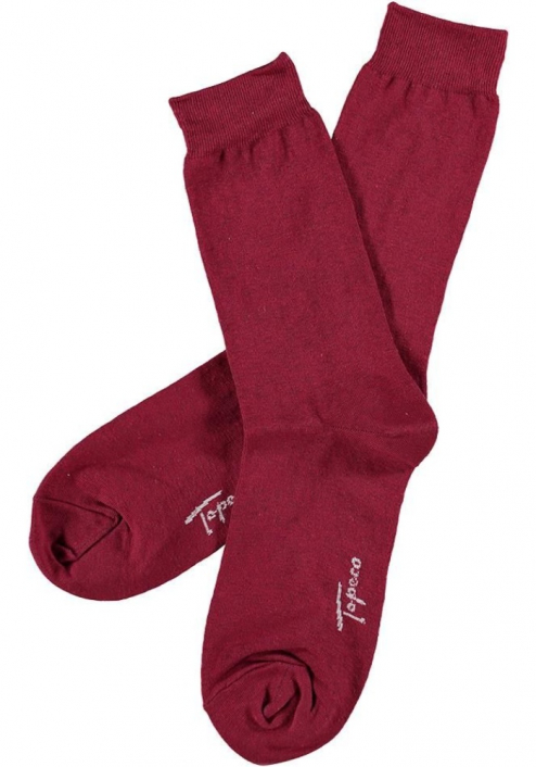 Topeco 3-pack strumpa enfärgad, bomull, röd
