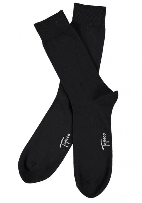 Topeco 3-pack strumpa stor storlek, bomull, svart