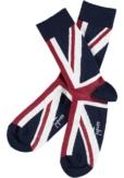 Topeco 3-pack strumpa mönstrad, bomull, navyblå
