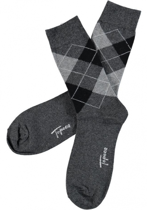 Topeco 3-pack strumpa enfärgad, bomull, antracitmelange