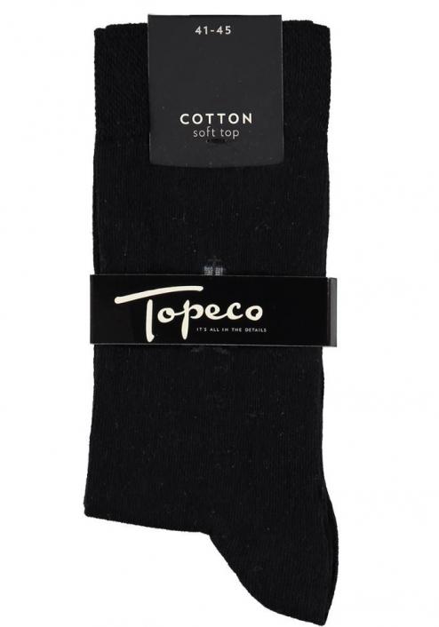 Topeco 3-pack soft-top strumpa emblem, bomull, svart
