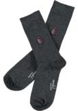 Topeco 3-pack soft-top strumpa emblem, bomull, antracitmelange