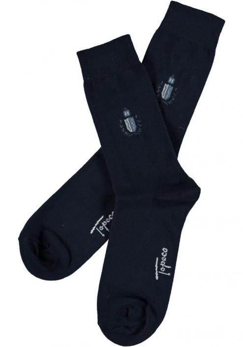 Topeco 3-pack soft-top strumpa emblem, bomull, navy