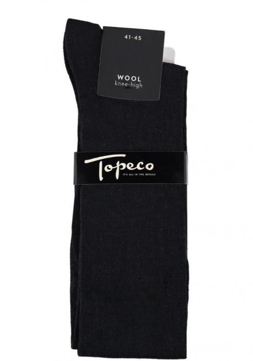 Topeco 3-pack knästrumpa enfärgad, ull, blå