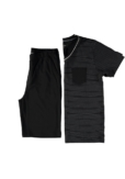 Topeco pyjamas kort, bomull, svart