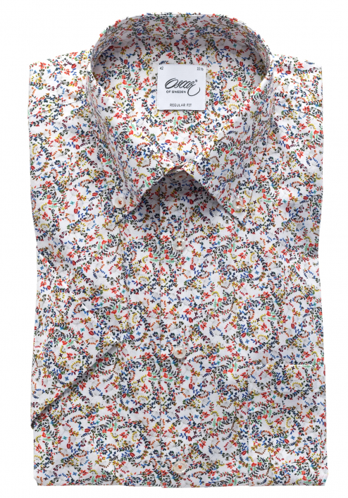 SHORT SLEEVED LIGHT FLOWERY SHIRT