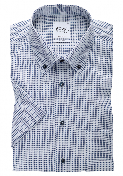 SHORT SLEEVED SHIRT WITH BLUE SQUARES