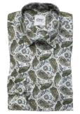GREEN PAISLEY SHIRT
