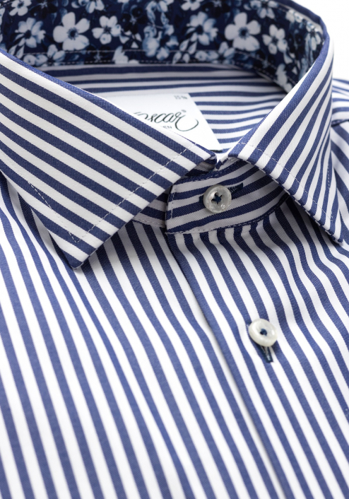 BIG STRIPED SHIRT WITH NAVY TRIM