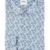 Blue paisley printed regular fit shirt