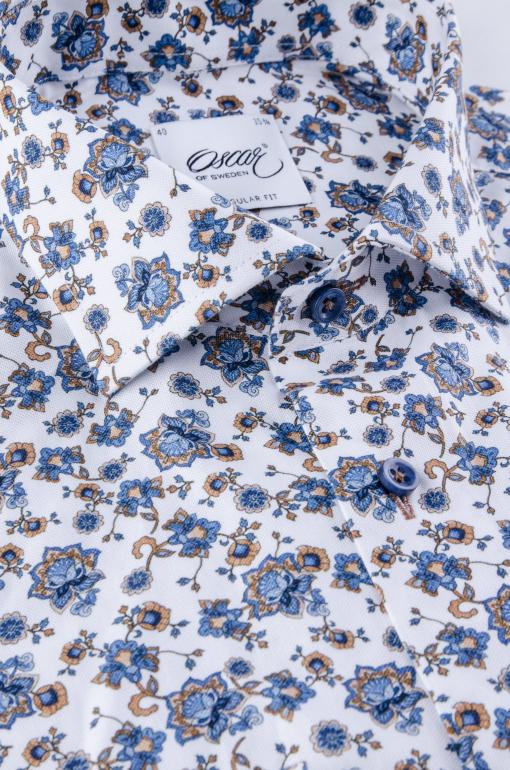 Flower printed regular fit shirt