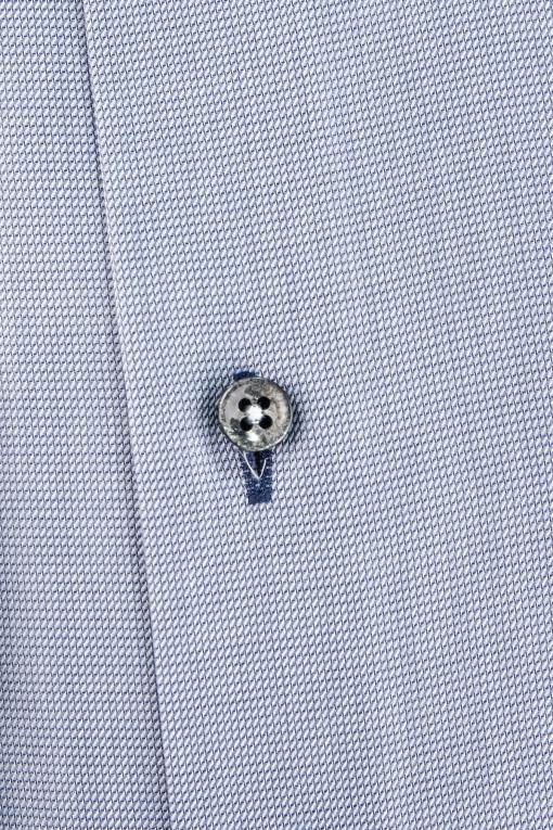 Blue regular fit shirt with navy contrast details