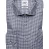 Dark blue checked regular fit shirt