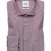 Burgundy striped regular fit shirt